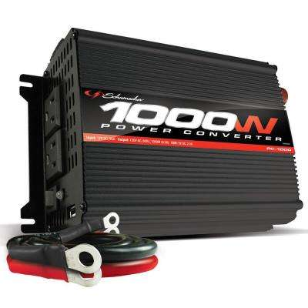 1000-Watt/2000 Peak Watt 12-Volt to 120-Volt AC Power Converter
