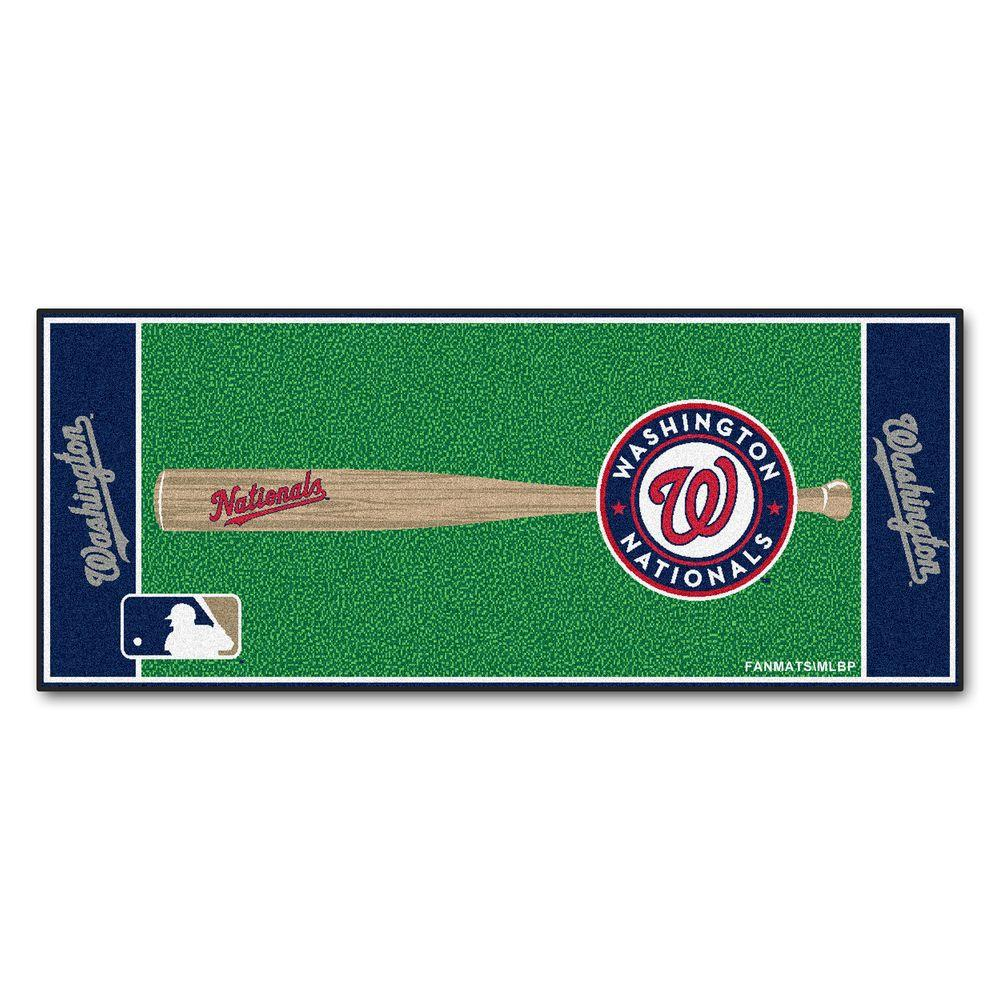 Fanmats Washington Nationals 3 Ft X 6 Baseball Runner Rug