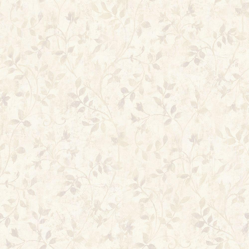 Vinca Brown Trailing Leaves Wallpaper Sample