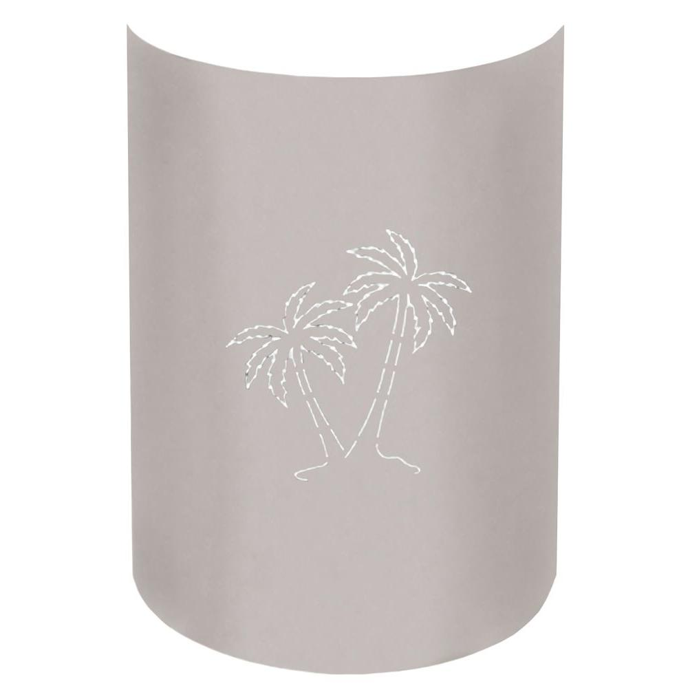 Aspen 1-Light Outdoor Stainless Steel Palm Tree Wall Sconce
