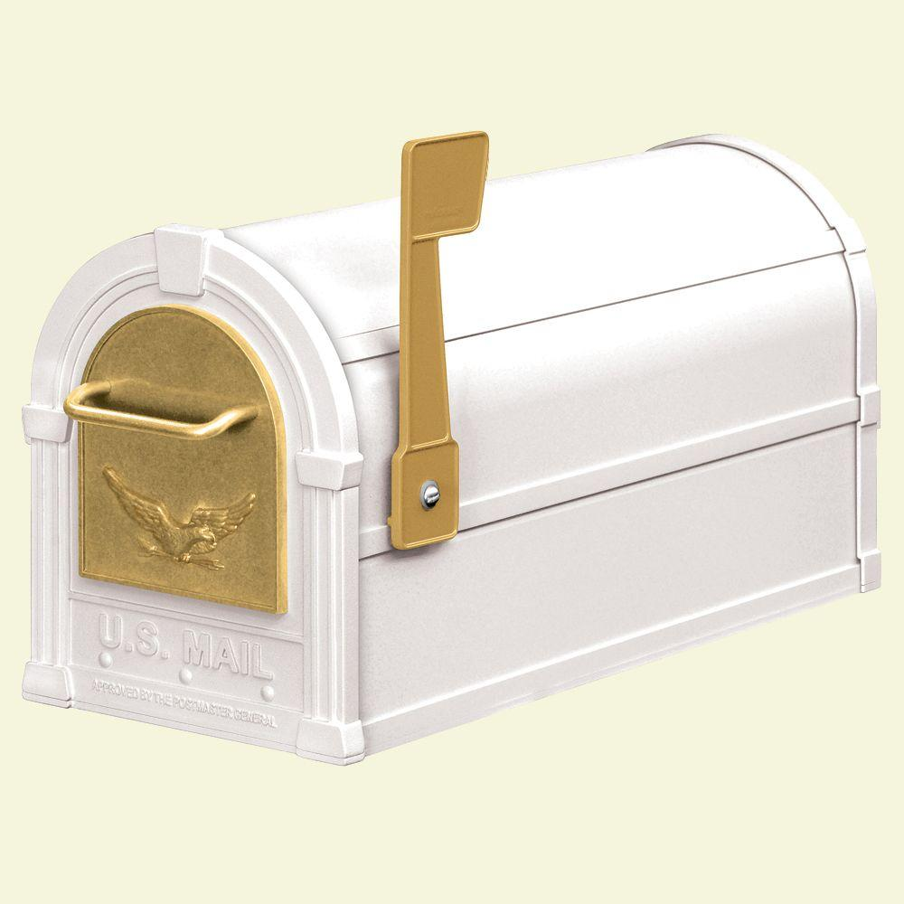 Salsbury Industries 4800 Series Post-Mount Eagle Rural Mailbox