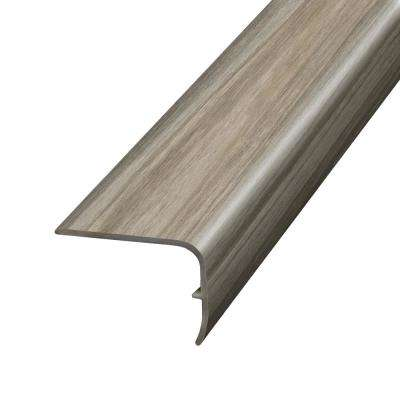 Petrified Wood Beige and Grey 1.32 in. Thick x 1.88 in. Wide x 78.7 in. Length Vinyl Stairnose Molding