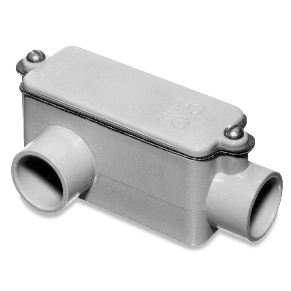 Carlon 2 in. Sch. 40 and 80 PVC Type-LR Conduit Body (Case of 3)
