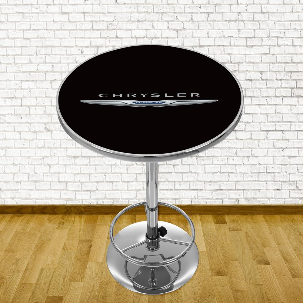 Trademark Chrysler Chrome PubBar Table CHR2000 LOGO The