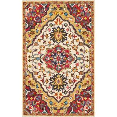 Arline Red 7 ft. 6 in. x 9 ft. 6 in. Area Rug