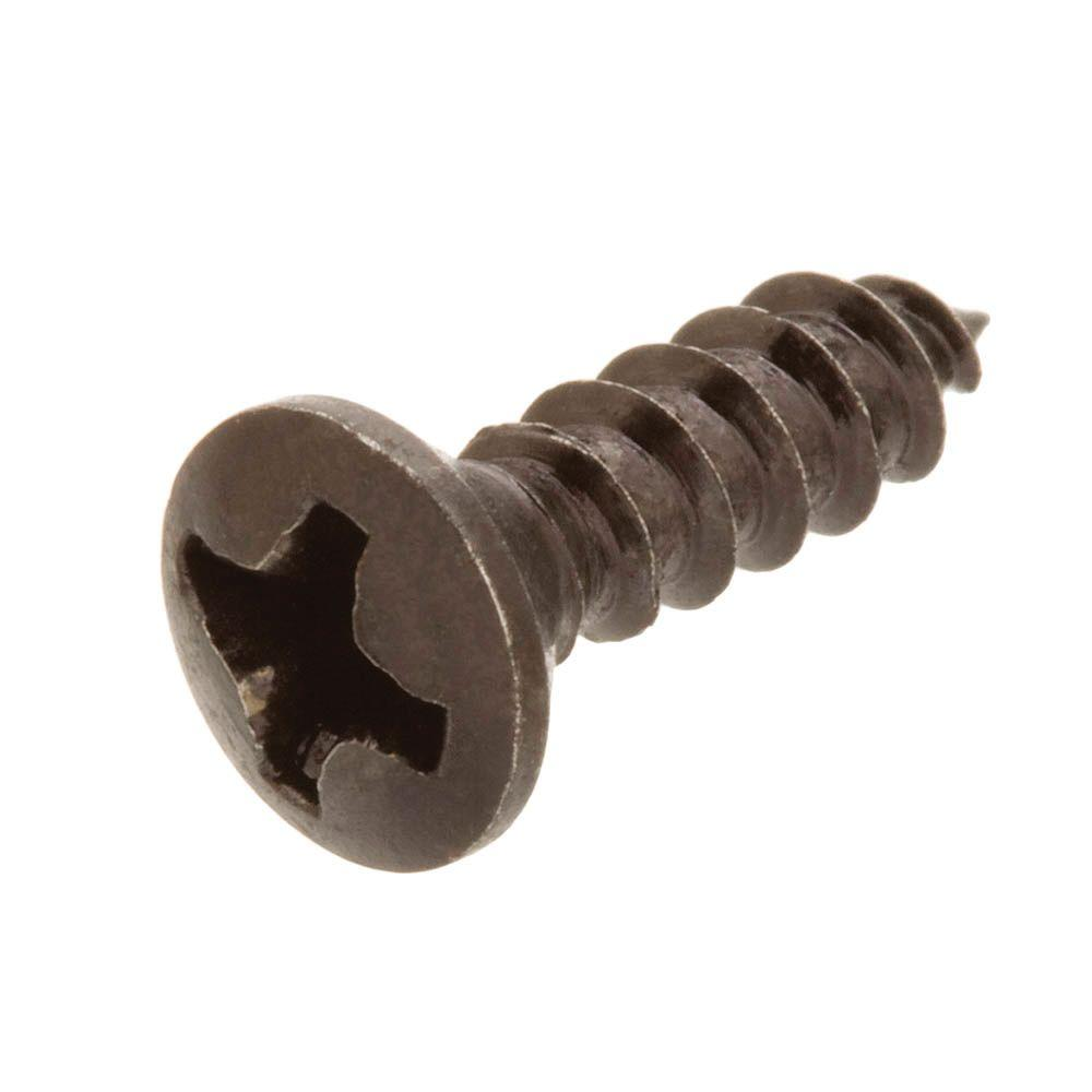 #8 x 1 in. Black Oval-Head Phillips Decor Screws (4-Pieces)