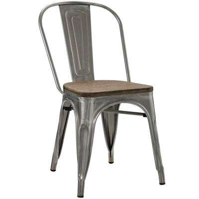Promenade Gunmetal Bamboo Side Chair