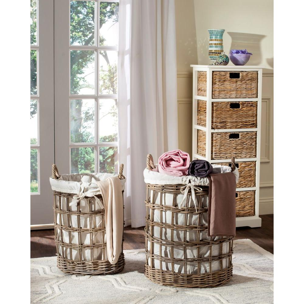 Adisa Hamper in Gray (Set of 2)