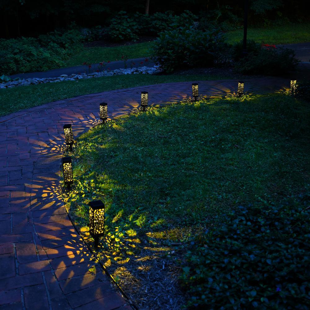 Lumabase Solar Powered Garden Lights 63504 The Home Depot