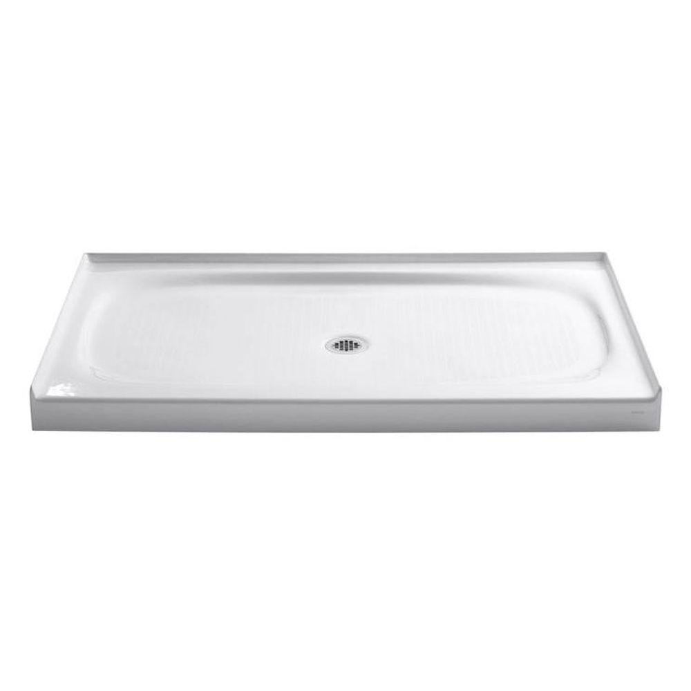 KOHLER Salient 60 in. x 36 in. Cast Iron Single Threshold Shower Base in White