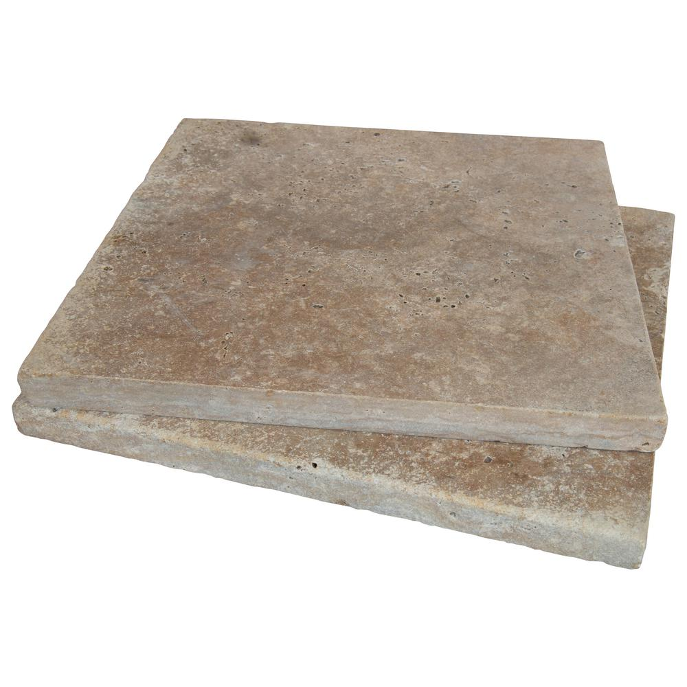 MSI Riviera 16 in. x 16 in. Tumbled Travertine Paver Tile (20 Pieces / 35.6 Sq. ft. / Pallet)