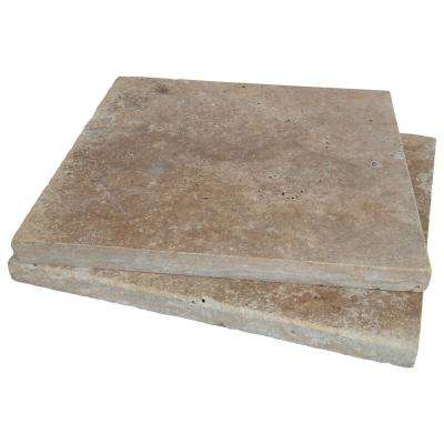 16 in. x 16 in. x 1.18 in. Riviera Tumbled Travertine Paver Tile (60 Pieces/106.8 sq. ft./Pallet)