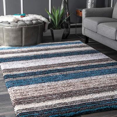 Drey Ombre Shag Blue Multi 8 ft. x 10 ft. Area Rug