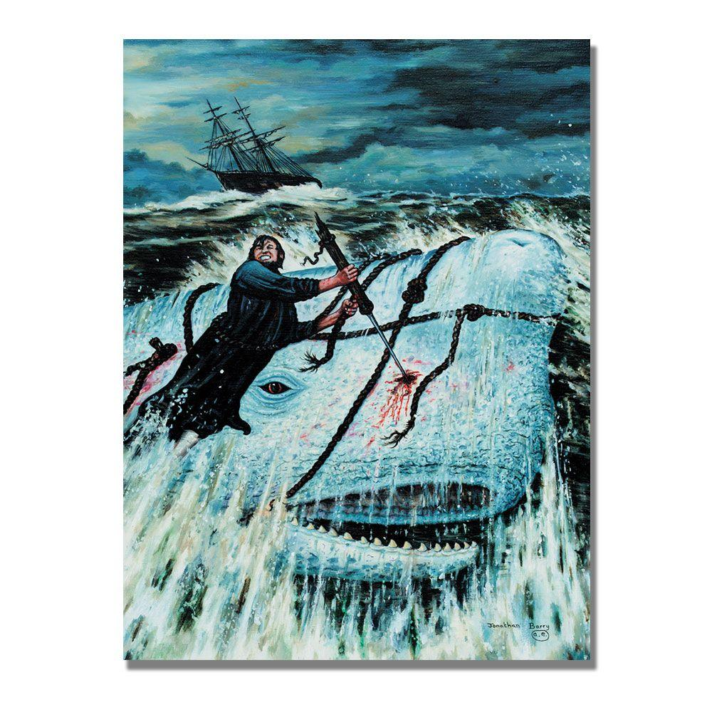 Trademark Fine Art 24 in. x 32 in. Moby Dick, 1993 Canvas Art-DISCONTINUED