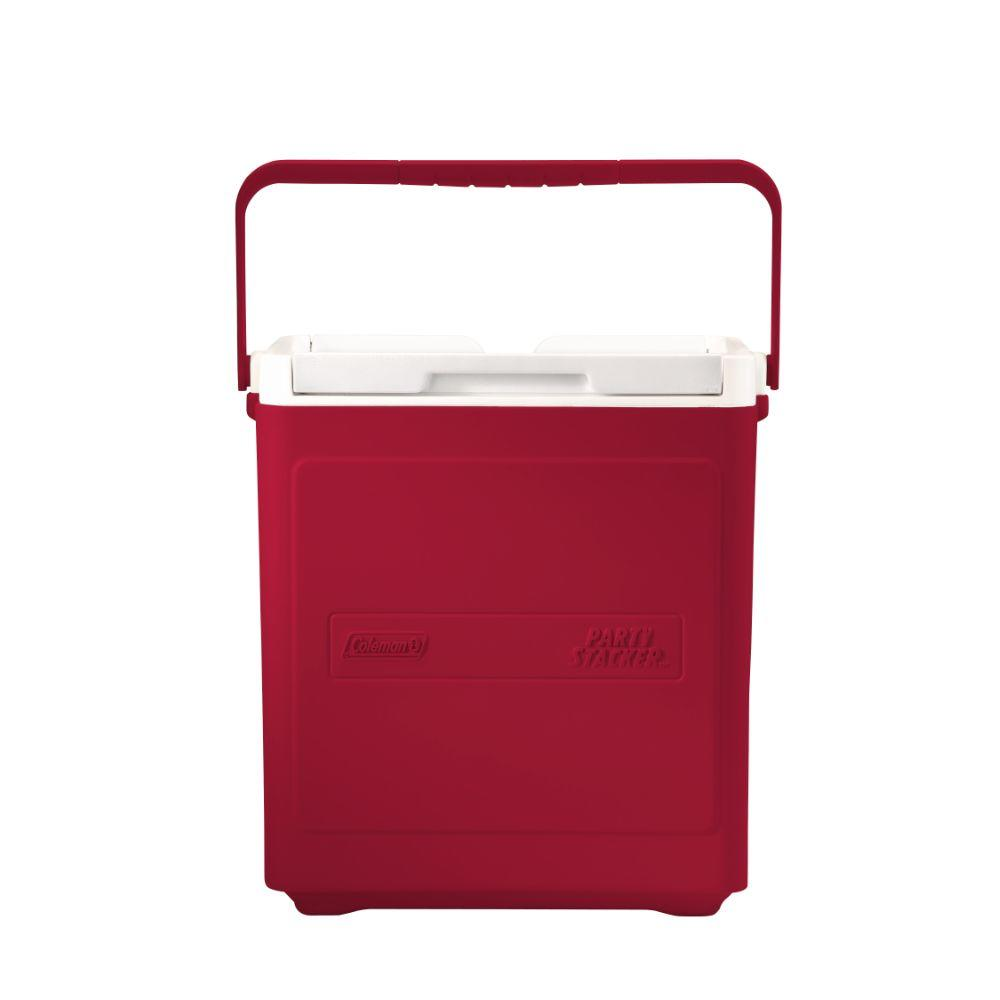 Coleman Party Stacker 18 Qt Red Cooler 3000005346 The Home Depot