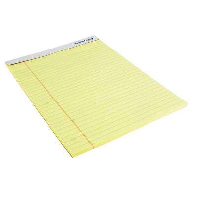 8.5 in. x 11 in. Perforated Legal Pad, Yellow (50-Piece per Pack)