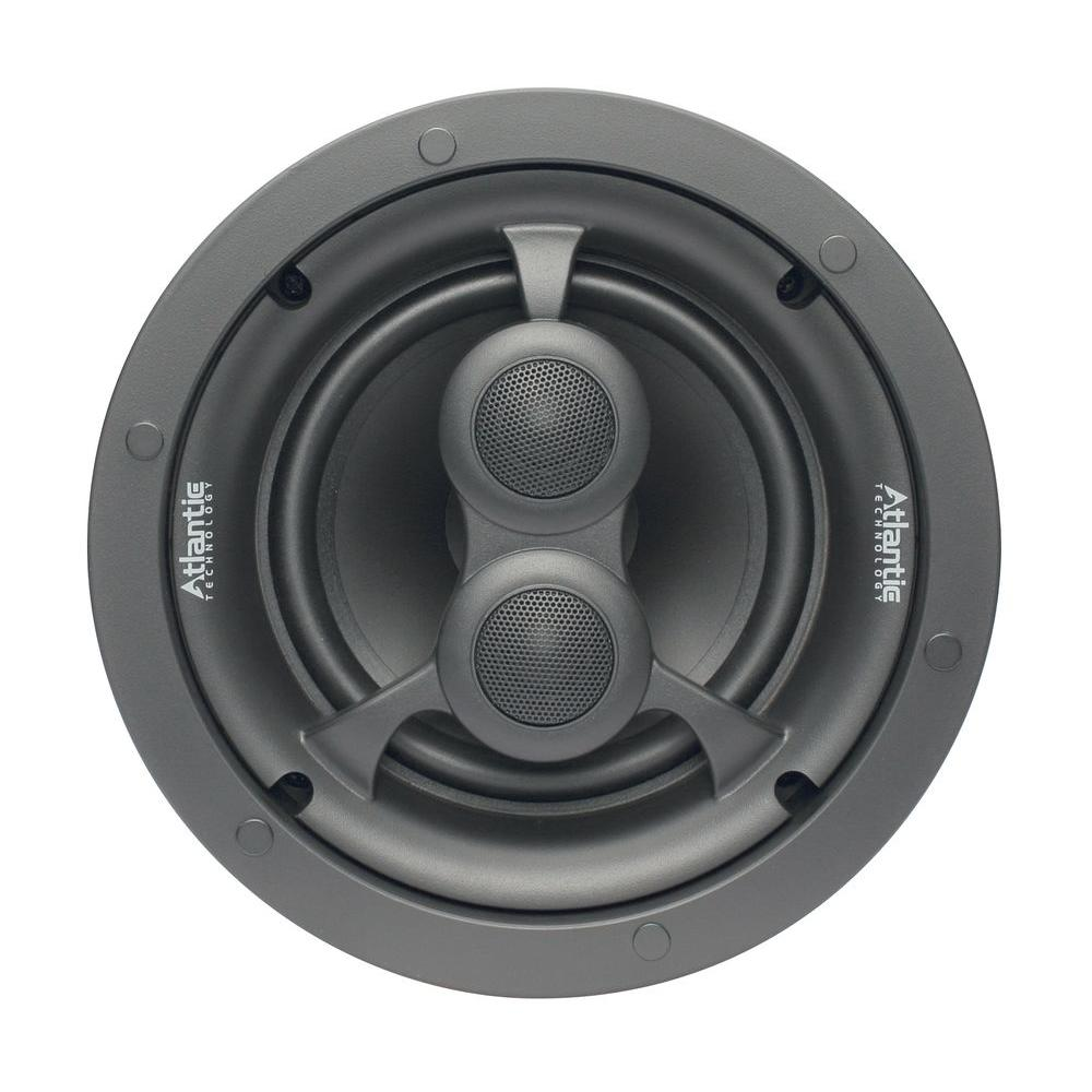 Atlantic Technology 6-1/2 in. 2-Way Trim-Look Tri-Mode In-Ceiling Speaker-Bezel Design-DISCONTINUED