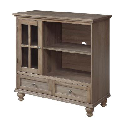 Tahoe 36 in. Driftwood TV Stand with 2 Drawer Fits TVs Up to 40 in. with Storage Doors