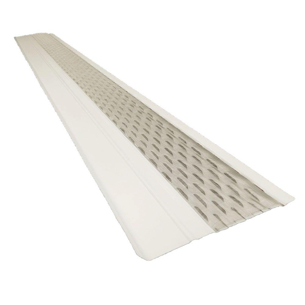 4 ft. x 6 in. Clean Mesh White Aluminum Gutter Guard