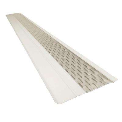 4 ft. x 6 in. Clean Mesh White Aluminum Gutter Guard (25-per Carton)