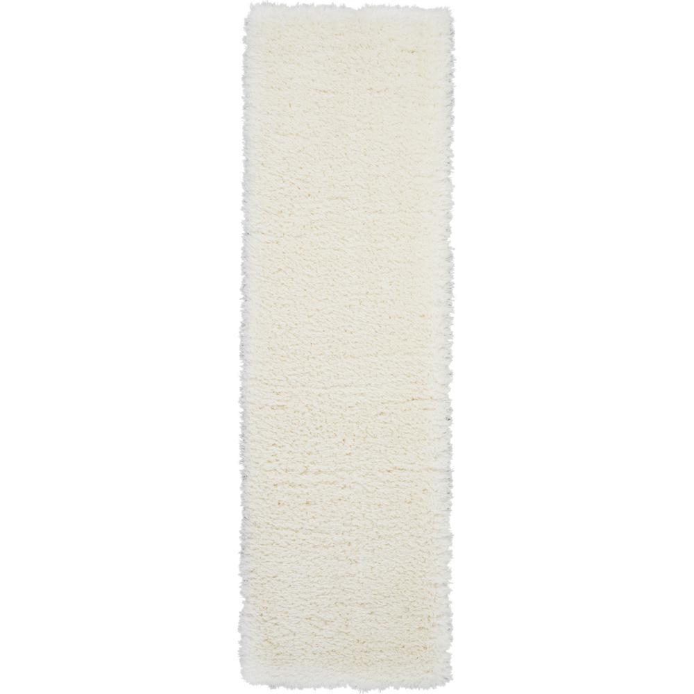 Ultra Plush Shag 8' Runner White Plush Area Rug