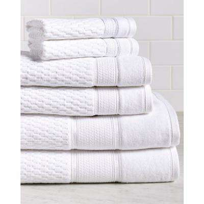 Royale 6-Piece 100% Turkish Cotton Bath Towel Set in White