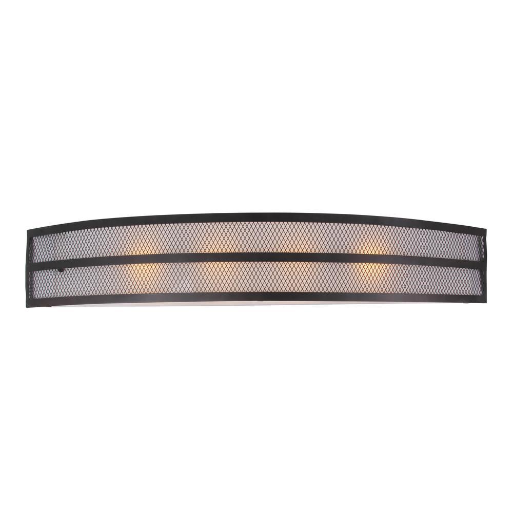 Link 4-Light Black Bath Light