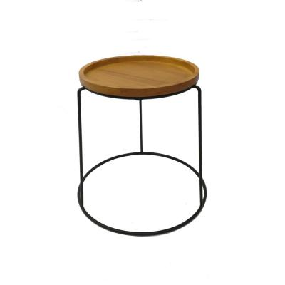 15 in. Wood Top Plant Stand