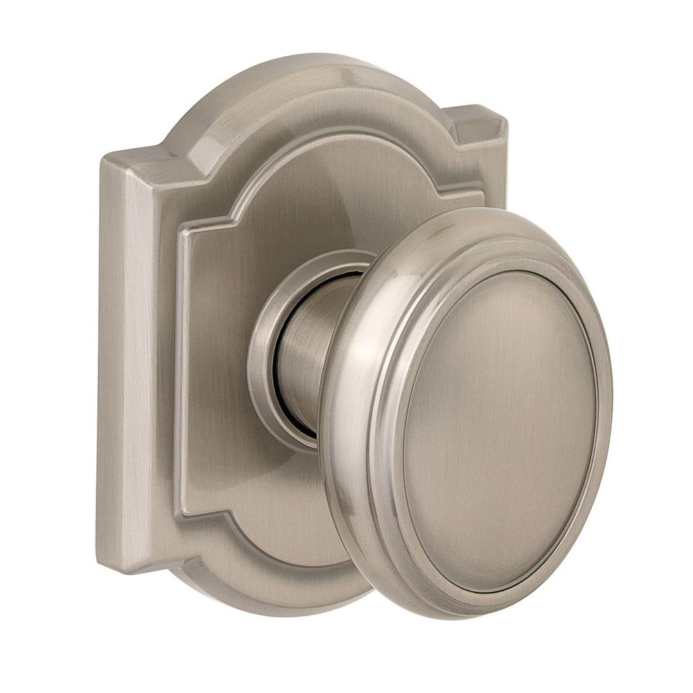 Bon Baldwin Prestige Carnaby Satin Nickel Hall/Closet Door Knob
