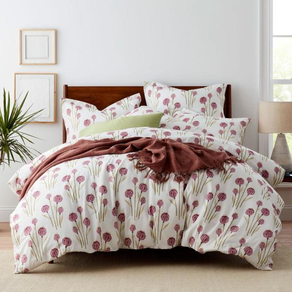 The Company Store Lantern Floral Cotton Percale King Duvet Cover 50349D-K-MULTI