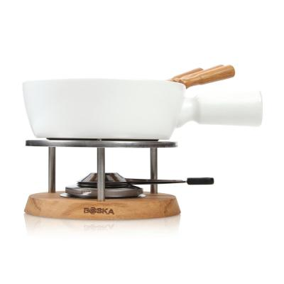 Exclusive Collection 6-Piece Ceramic Fondue Set in White