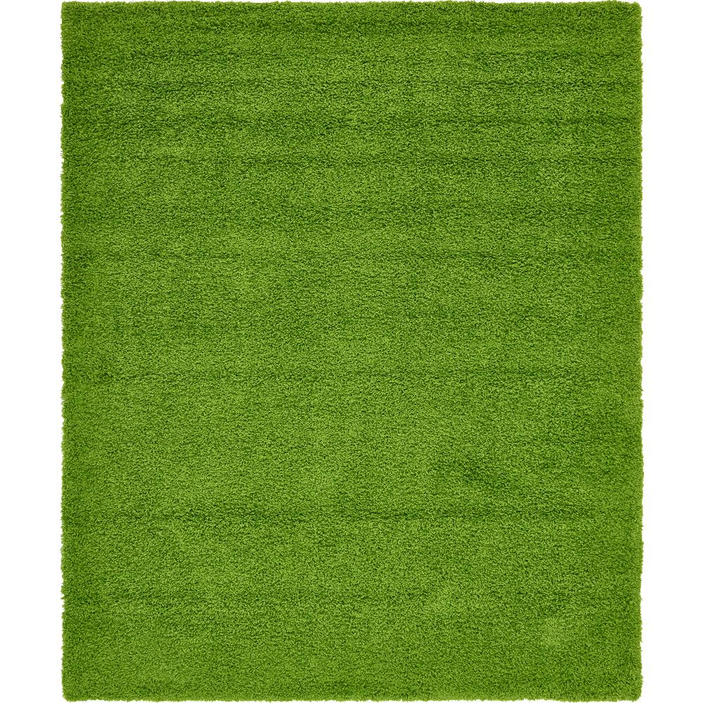 Top Unique Loom Solid Shag Grass Green 8' x 10' Rug-3136681 - The Home  UP09