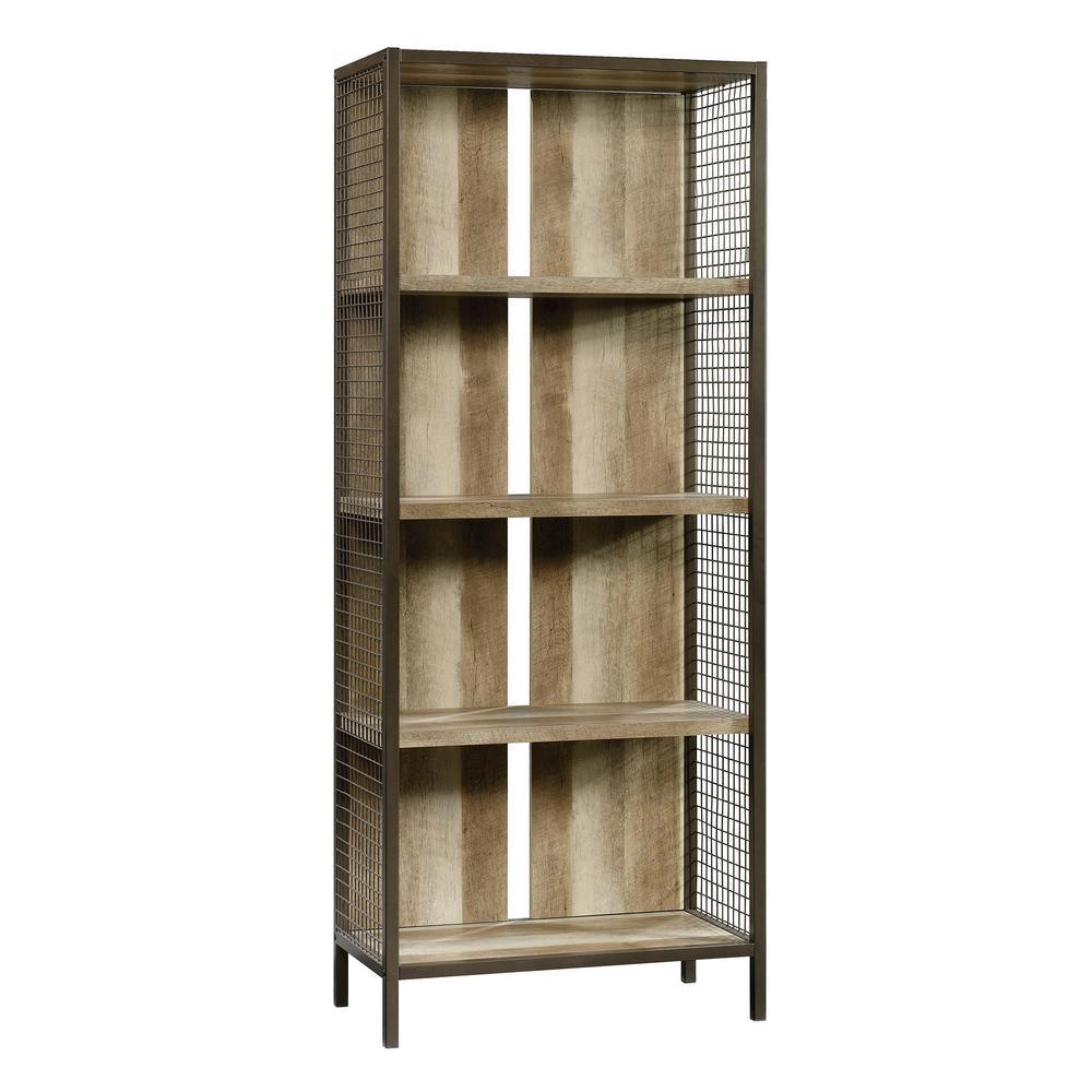 Carson Forge Lintel Oak 4-Shelf Bookcase