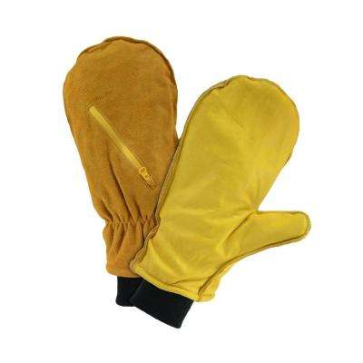 Pre-Lined Large Leather Chopper Mitten