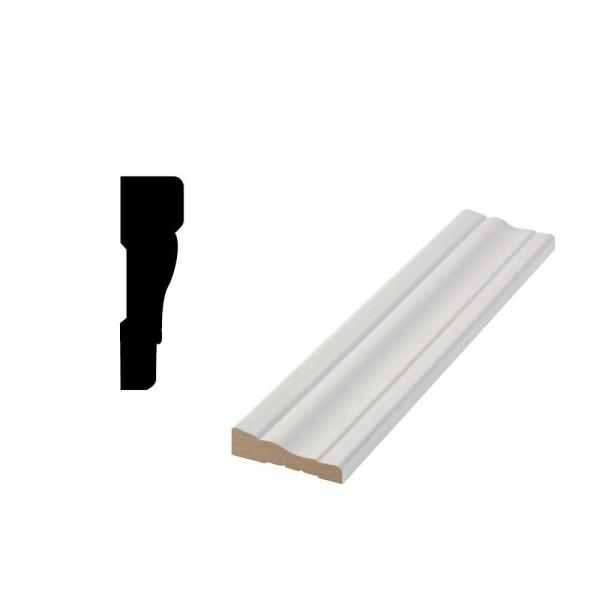 LWM 356 19/32 in. x 2-1/4 in. x 84 in. Primed MDF Door and Window Casing Moulding