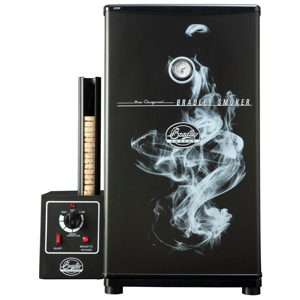 Bradley Smoker Original 4-Rack Electric Smoker Bradley Smokers are the latest alternative in smoking technology. Sportsmen and chefs alike can rely upon its precision to consistently produce the best tasting smoked foods. The Original 4-Rack Electric Smoker is easier to control and more versatile than traditional smokers - with the Automatic Smoke Generator, electronic control and fully insulated cabinet, it eliminates the drastic temperature fluctuations and interruptions in smoke production that adversely affect the taste of smoked foods. It's all about the flavor, and Bradley Smokers deliver.