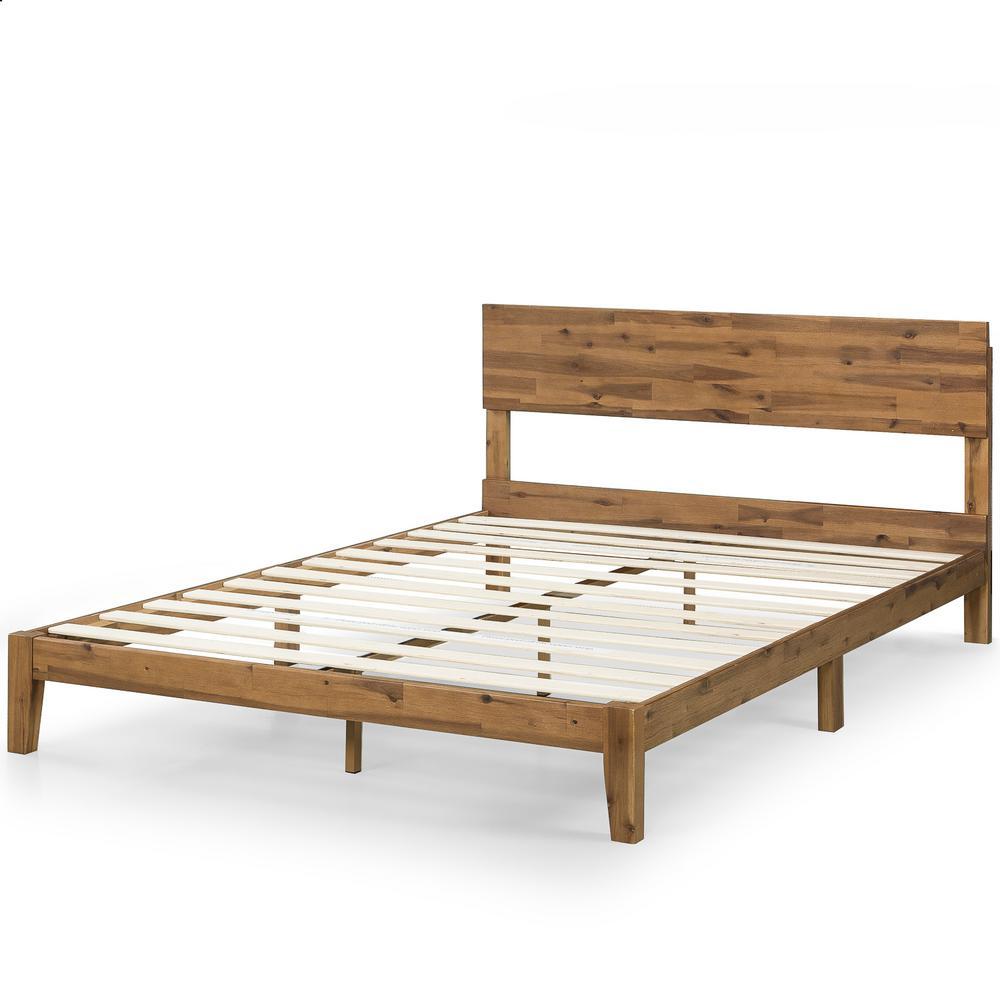 Julia 10 in. King Wood Platform Bed with Headboard