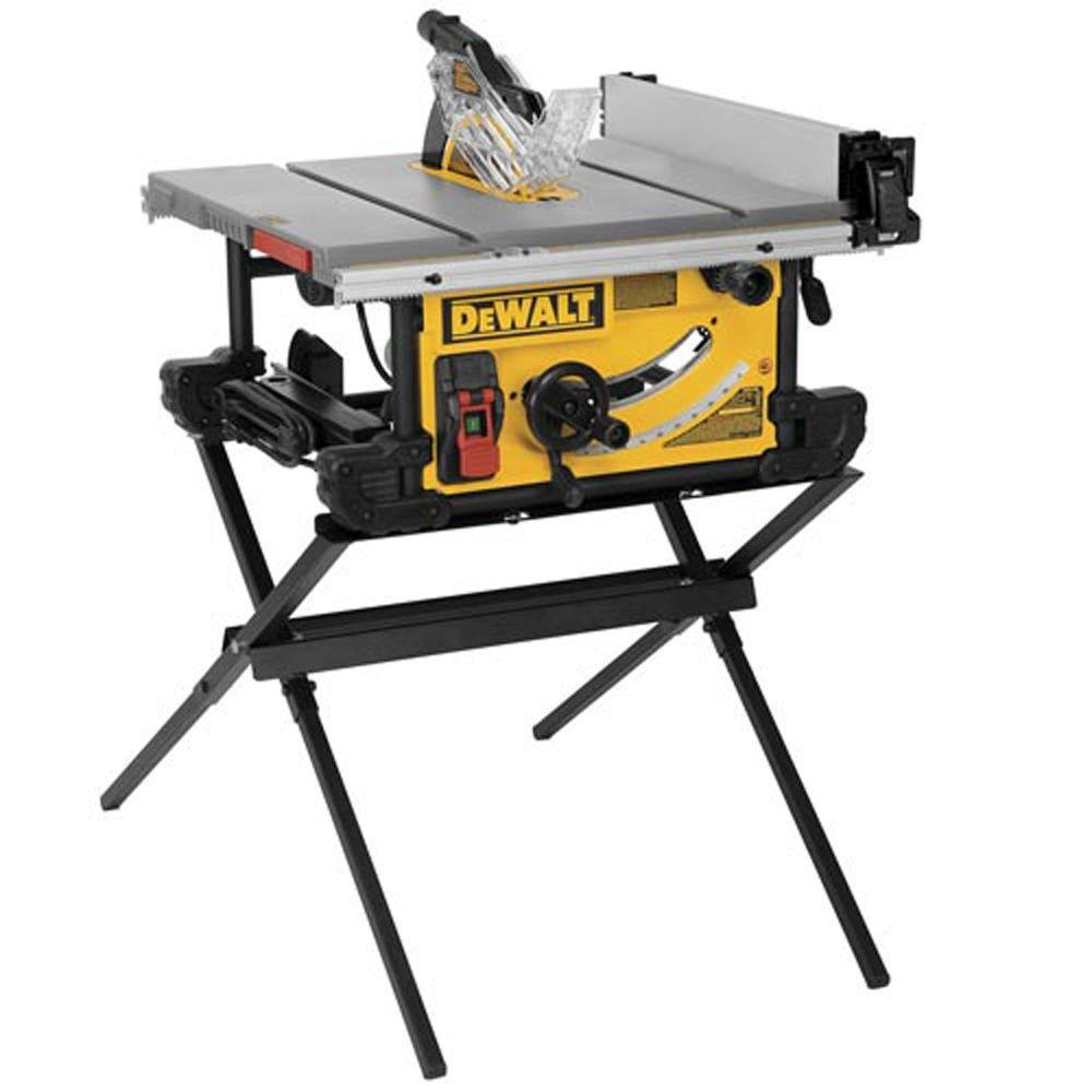 DEWALT 15 Amp 10 in. Job Site Table Saw with Scissor Stand ...