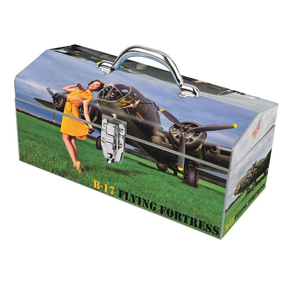 Sainty International 16 in. Warbird Pinup Girls Memphis Belle Art Tool Box