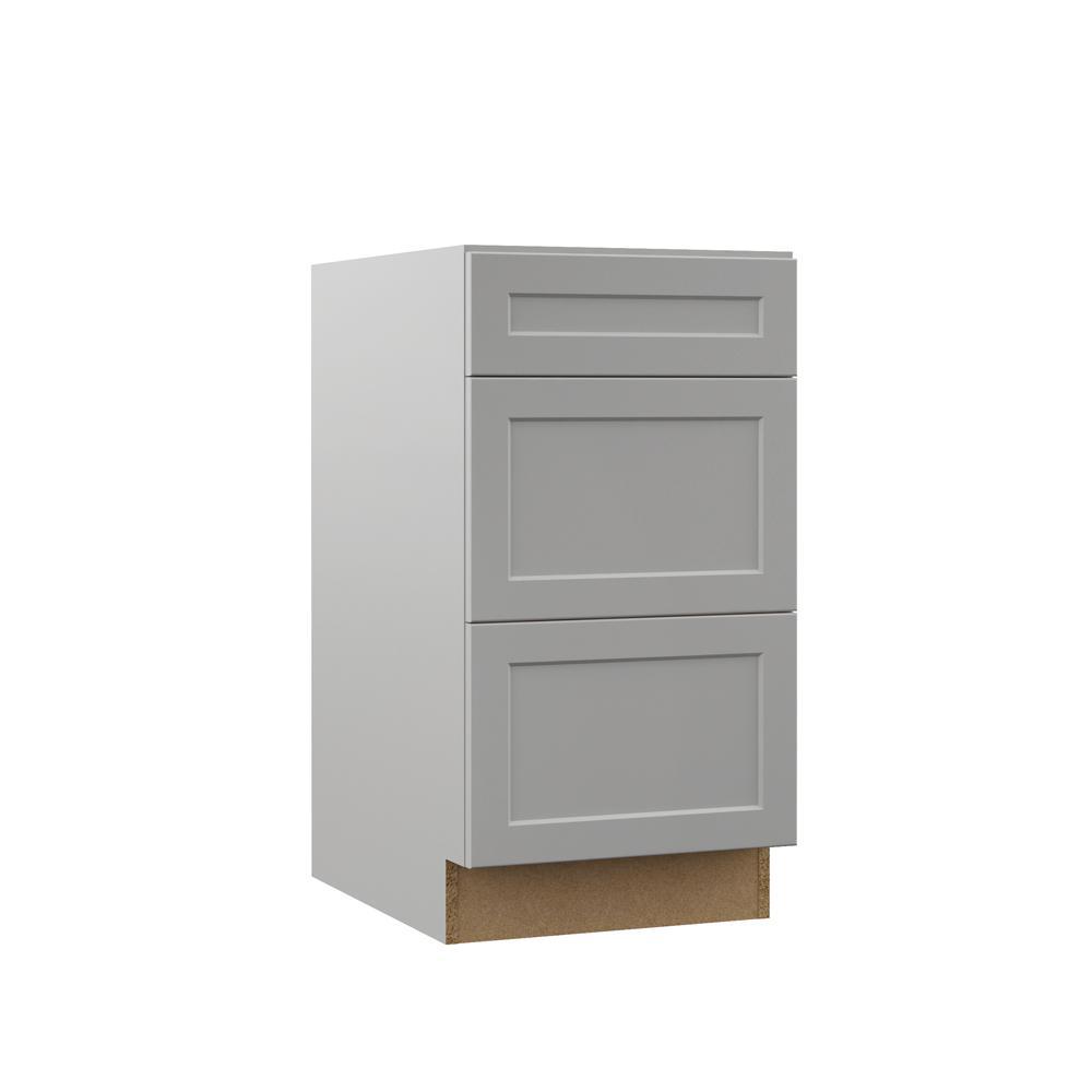 Gray Kitchen Cabinets Home Depot: Hampton Bay Shaker Assembled 24 X 34.5 X 21 In. Base Bath