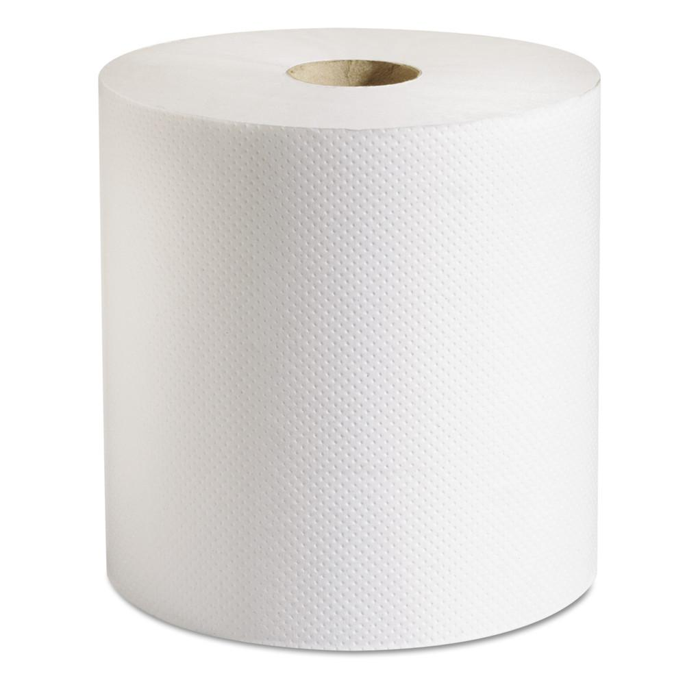 White 100% Recycled Hardwound Roll Paper Towel (6-Rolls/Carton)