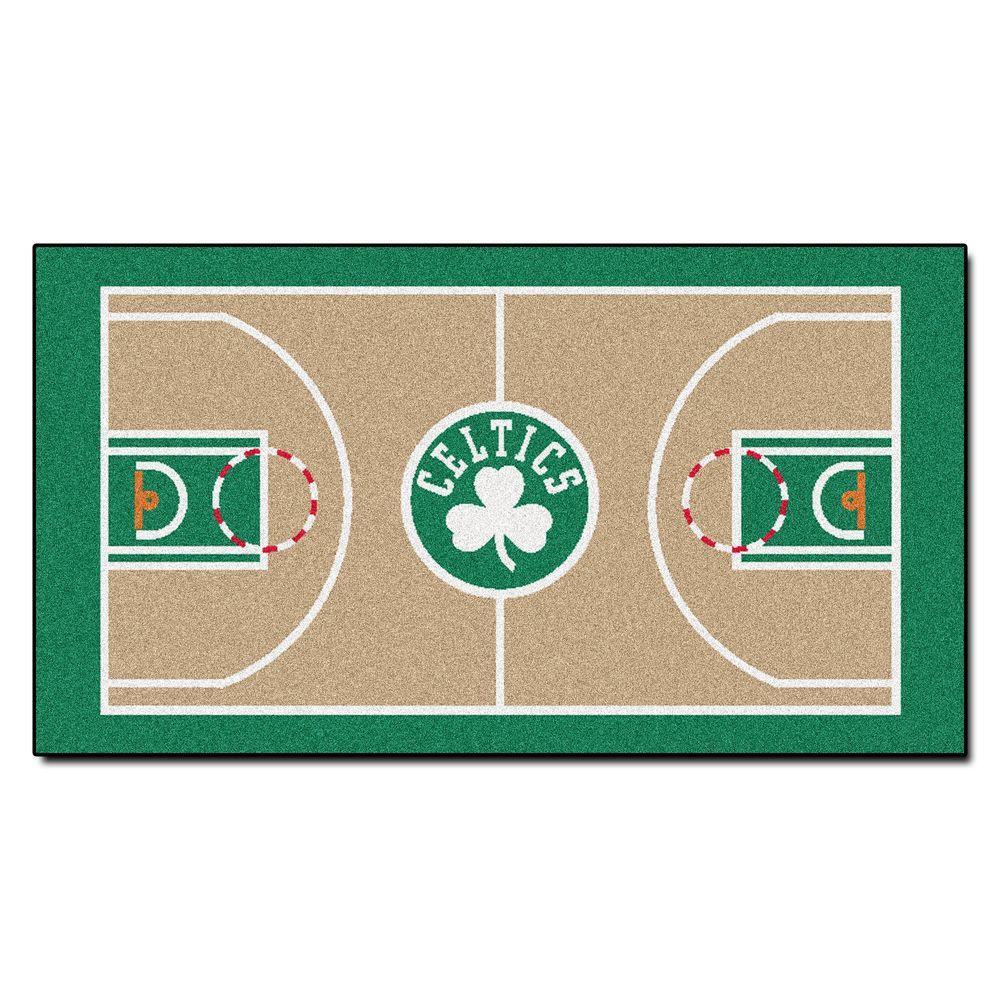 cf8021c40b4 FANMATS Boston Celtics 2 ft. x 4 ft. NBA Court Runner Rug-9480 - The ...