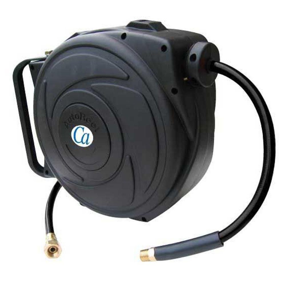 retractable air hose reel 3 8 in x 50 ft retractable closed hose reel with pvc air 10628