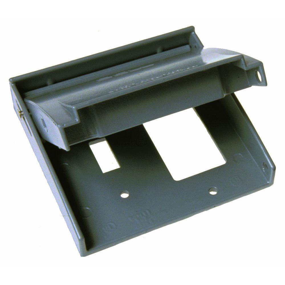 2 Gang Weatherproof Flip Lid Device Cover