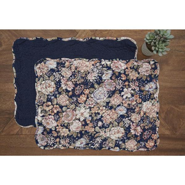 C F Home Blue Allison Quilted Placemat