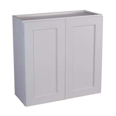 Brookings Ready to Assemble 24x36x12 in. Shaker Style Kitchen Wall Cabinet 2-Door in White