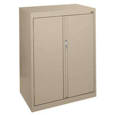 System Series 30 in. W x 42 in. H x 18 in. D Counter Height Storage Cabinet with Fixed Shelves in Tropic Sand
