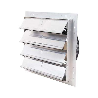 1,100 CFM 16 in. Shutter Mounted Variable Speed Exhaust Fan, Extruded Aluminum Frame, Rust Proof