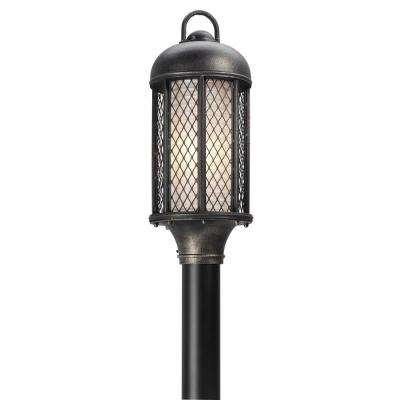 Signal Hill Outdoor Aged Silver Post Light