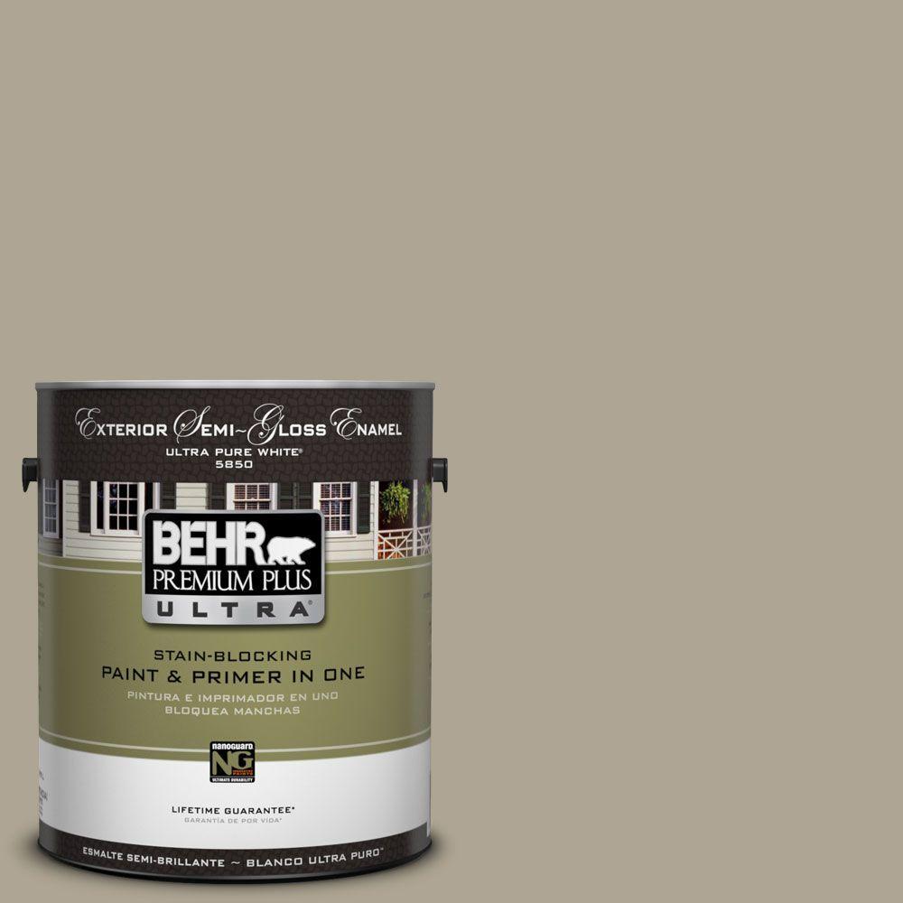 BEHR Premium Plus Ultra 1-Gal. #UL190-6 Stone Walls Semi-Gloss Enamel Exterior Paint